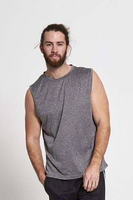 Grey Active Gym Tank T-Shirt