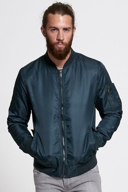 Teal Hollywoood Bomber Jacket