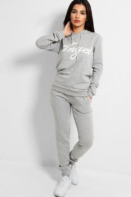 Grey Angle Hooded Tracksuit