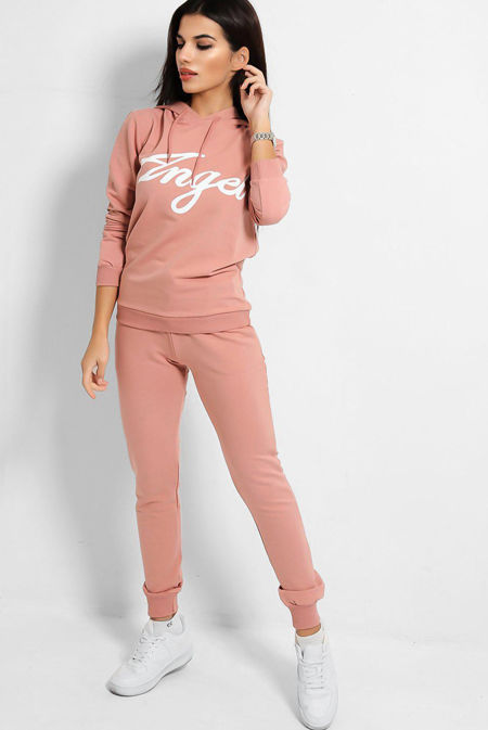 Plus Size Dusty Angle Hooded Tracksuit