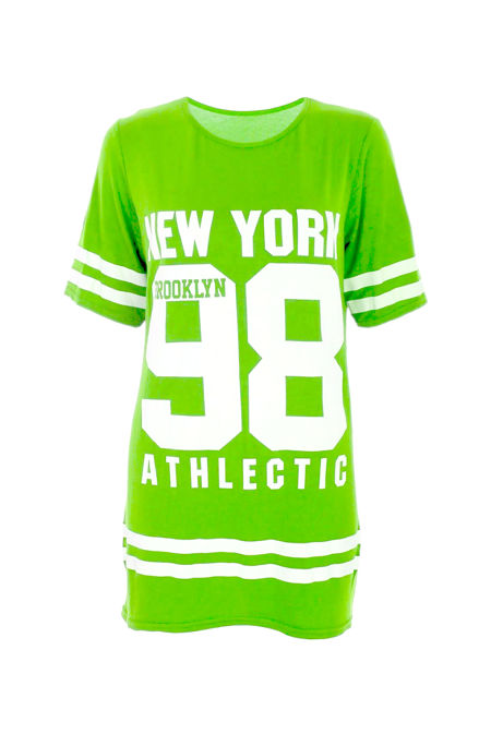 Plus Size Apple Green New York 98 Oversize T-Shirt