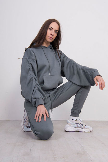 Airforce Ruched Hoodie And Jogger Set