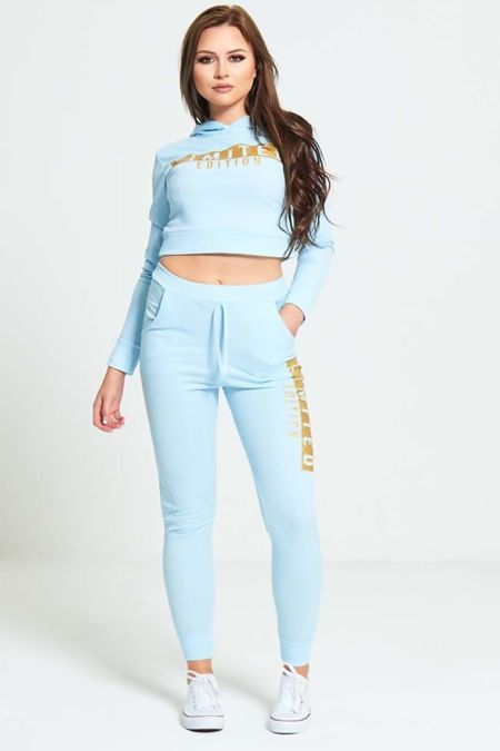 Aqua Limited Edition Crop Hood Tracksuit