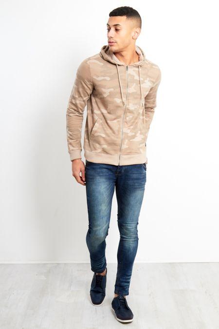Mid Blue Washed Denim Skinny Jeans