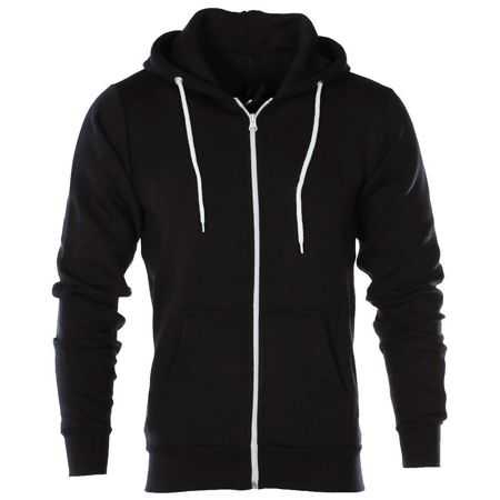 Black American Fleece Zip Up Hoody Jacket