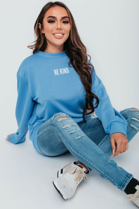 Khaki Be Kind Sweatshirt