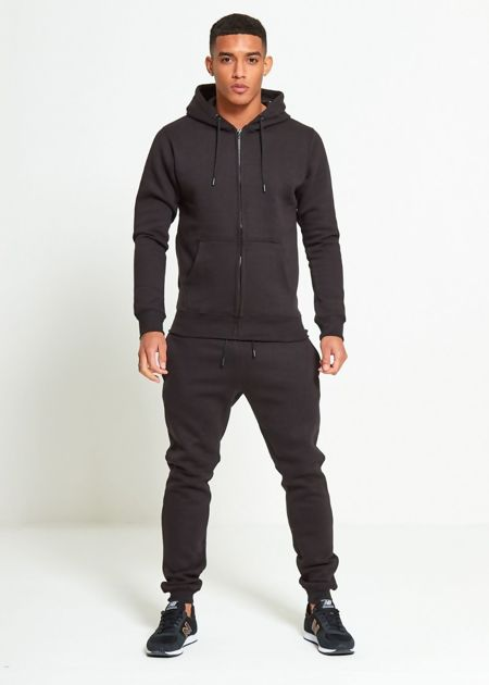 Black Block Hooded Tracksuit