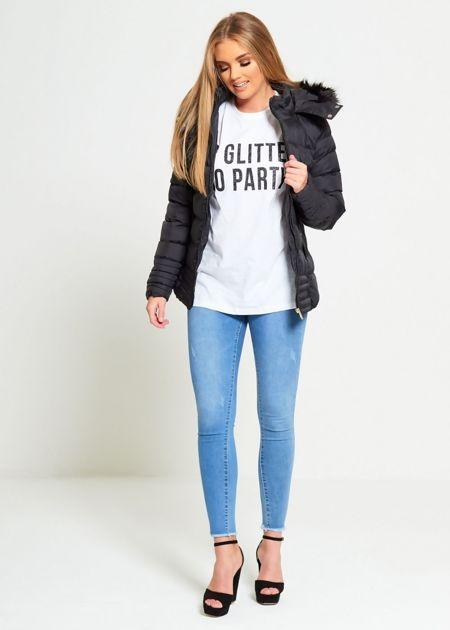 Black Brave Soul Puffer Hood Jacket