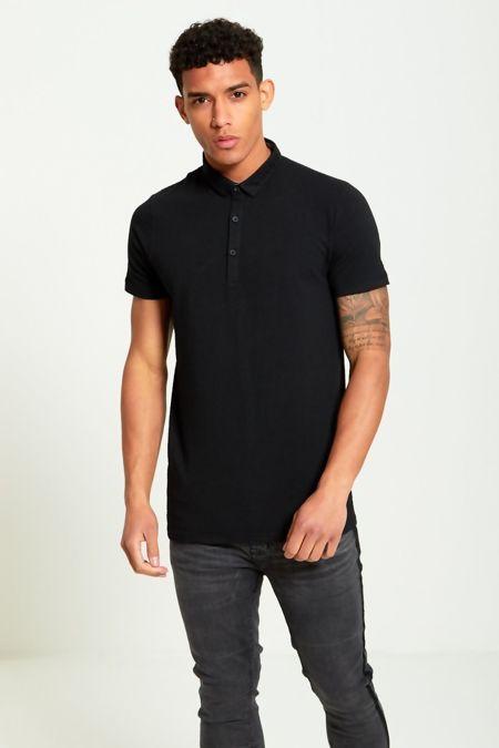 Black Bubble Pattern Polo T-Shirt