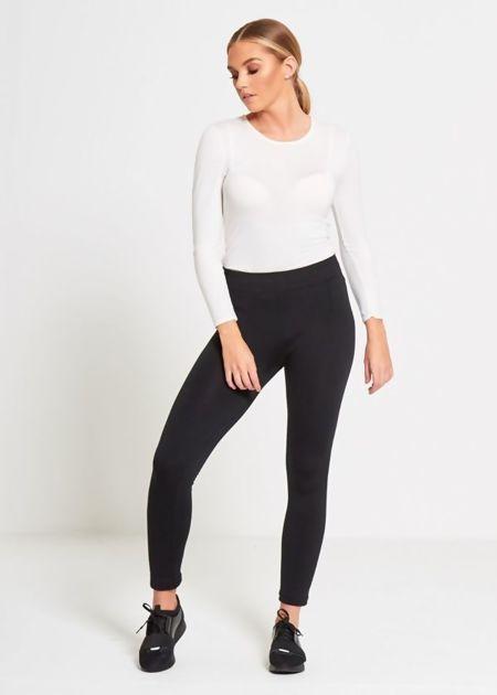 Plus Size Black Fleece Leggings