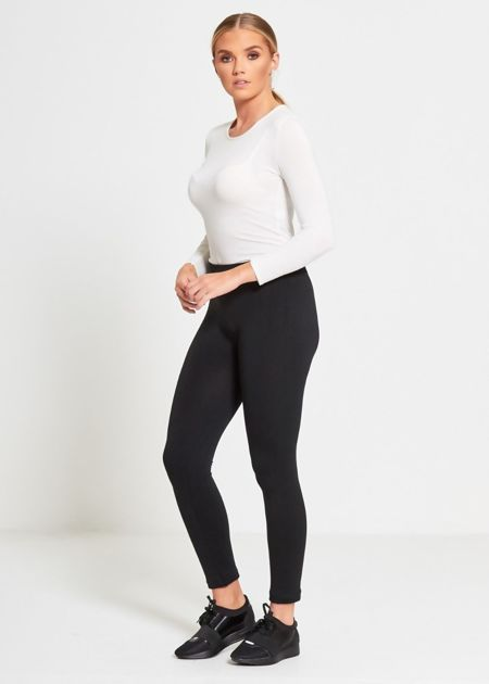Dark Gray Fleece Leggings