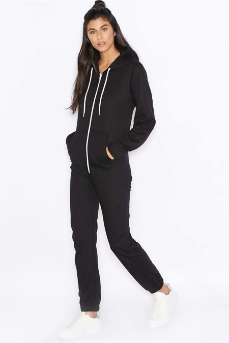 Black Jersey Plain Onesie
