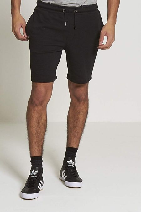 Black Jersey Sweat Shorts