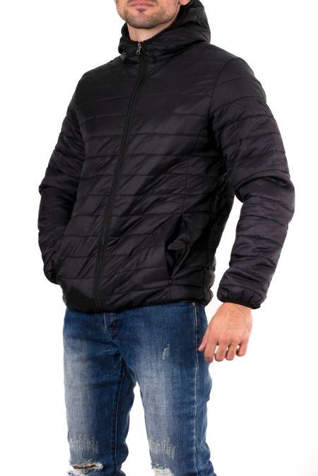 Black Lightweight Puffer Rain Jacket