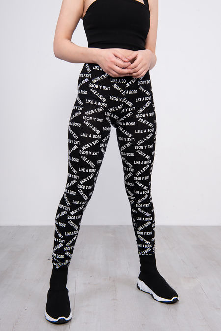 Black Like A Boss Printed Leggings