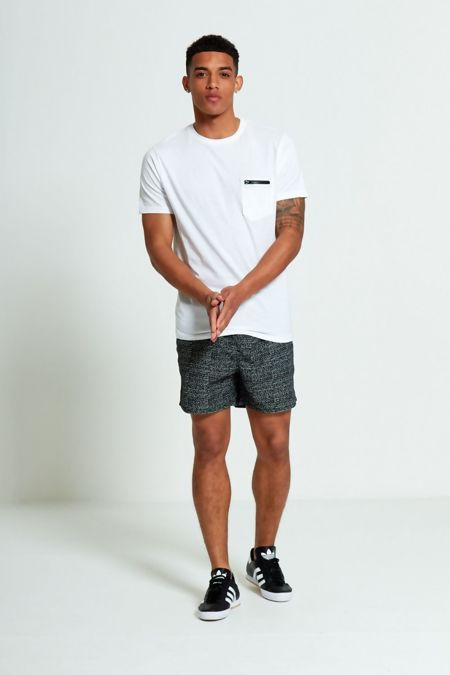 Black Monochrome Swim Shorts
