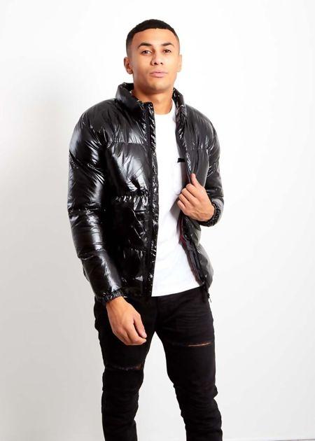 Black Shine Padded Jacket