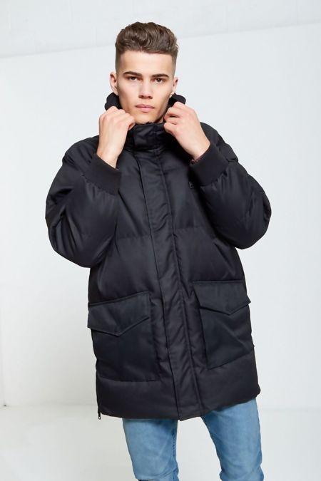 Black Windbreaker Quilted Coat