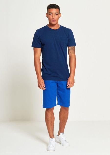 Blue Plain Pocket T-Shirt