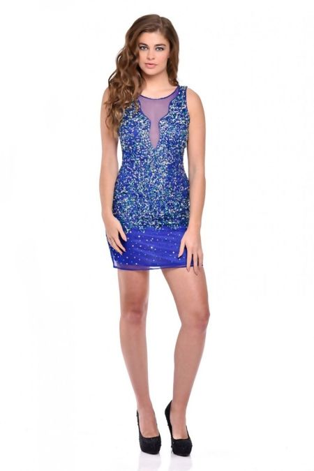 Blue Premium Sequin Dress