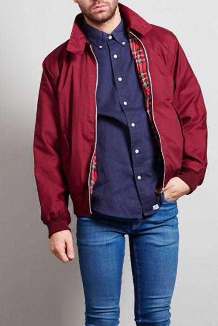 Burgandy Harrington Jacket