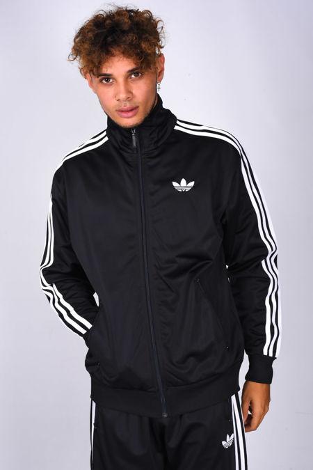 Black Adidas Adicolor Sport Track Zip Up Jacket