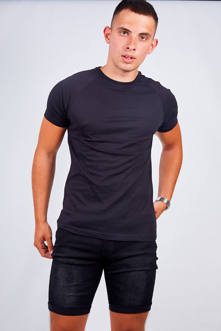 Black Chino Basic Shorts