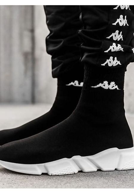 Black Chunky Sole Runner Sock Trainers
