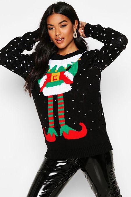 Black Elf Christmas Jumper