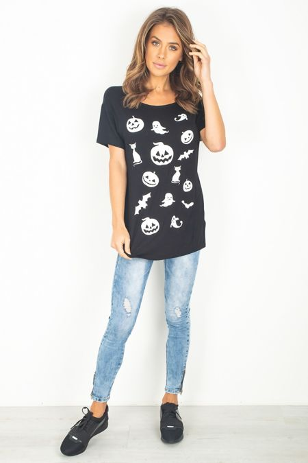 Black Halloween T-Shirt