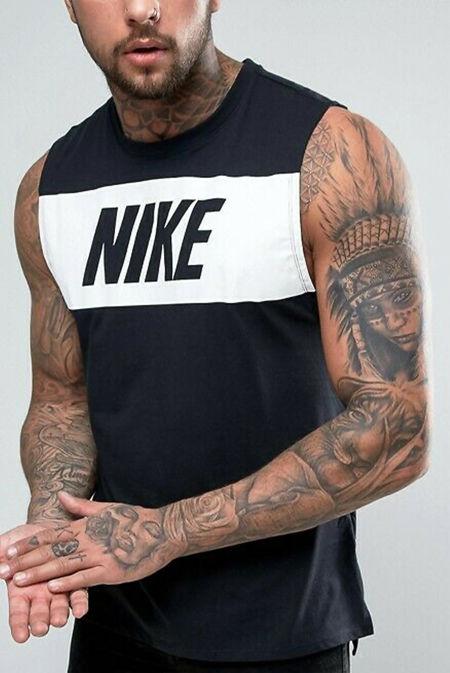 Black Nike Retro Logo Vest
