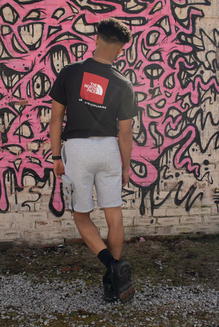 Black The North Face® Red Box Tee