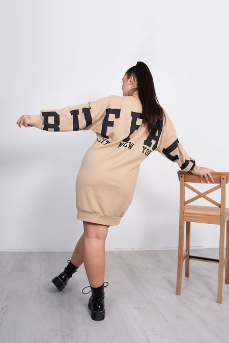 Buffalo Slogan Oversized Jumper Dress