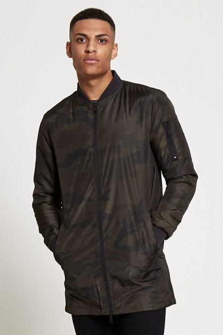 Camo Long Line Jacket