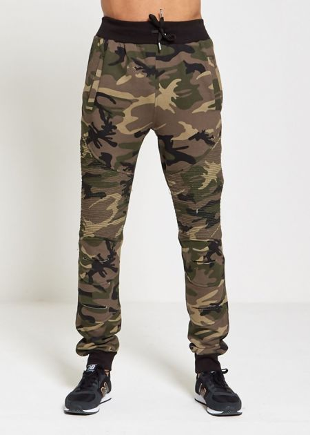 Camo Ribbed Jogging Bottoms
