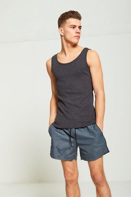 Charcoal Basic Ribbed Vest