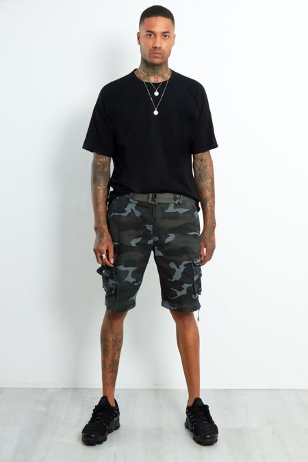 Charcoal Camo Cargo Shorts