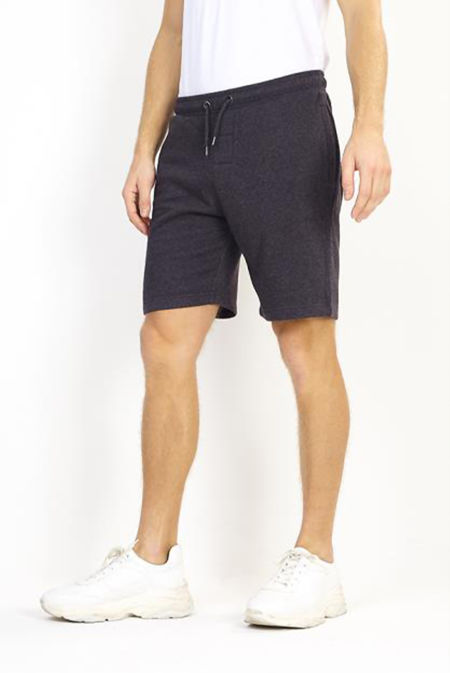 Charcoal Jersey Sweat Shorts