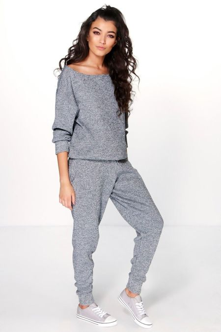 Charcoal Lounge Wear Knitted Set