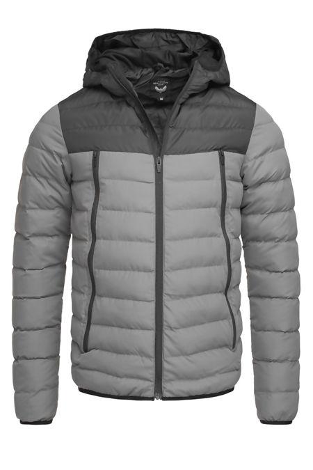 Charcoal Padded Hood Puffer Jacket