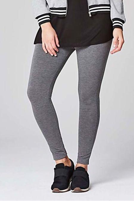 Charcoal Plain Stretchable Viscose Leggings