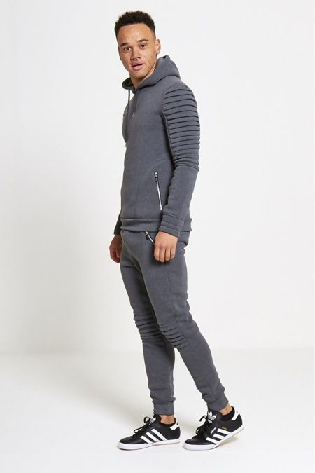 Charcoal Ribbed Padding Tracksuit