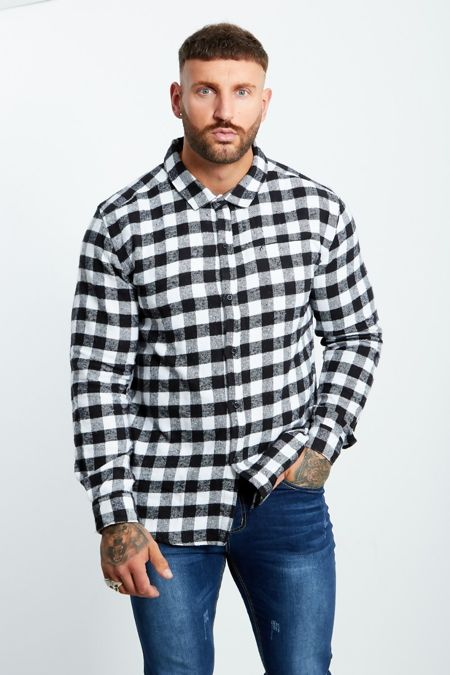 Checked Thick Long Sleeve Shirt