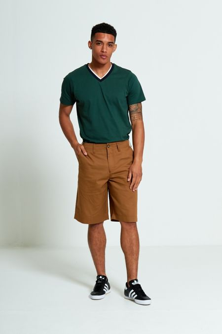 Brown Twill Chino Shorts