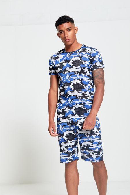 Blue Camo T-Shirt and Short Set
