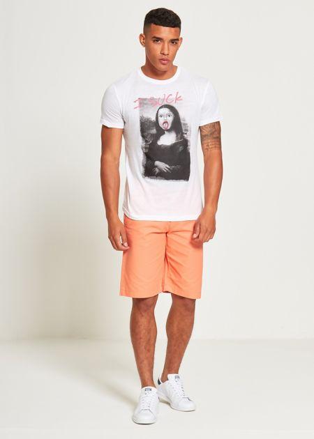 White Mona Lisa T-Shirt
