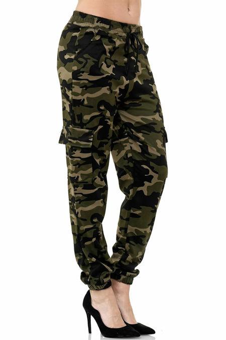 Camo Cargo Mom Trousers