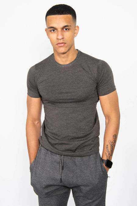 Charcoal Muscle Fit Tee