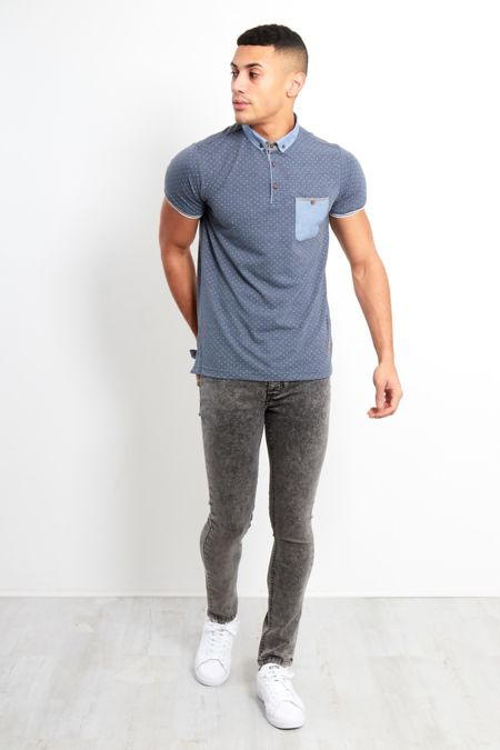 Charcoal Acid Wash Skinny Jeans