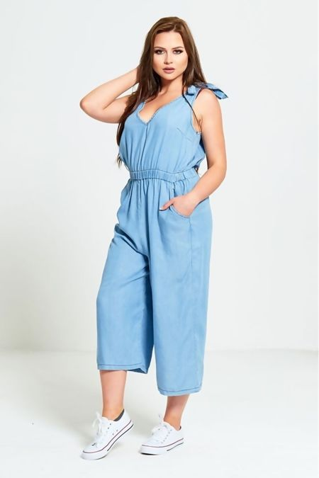 Denim Wash Jumpsuit